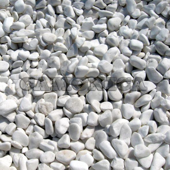 Крошка из мрамора белого галтованная