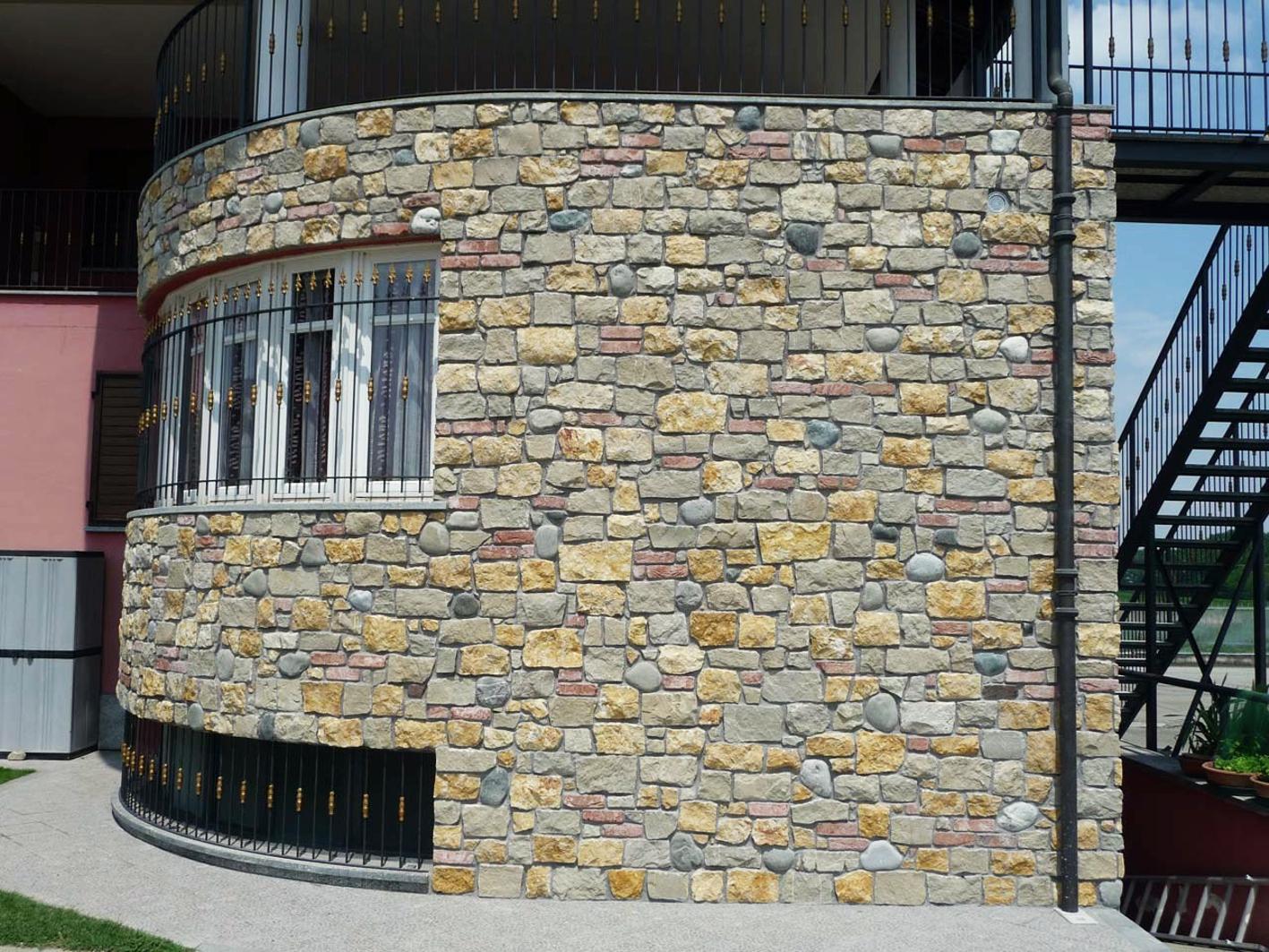 Облицевать здание натуральным камнем златолит
