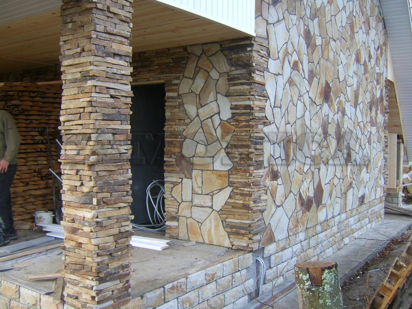 Облицовка фасадов натуральным камнем своими руками