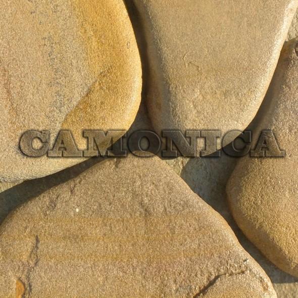 Песчаник жёлто-рыжий галтованный