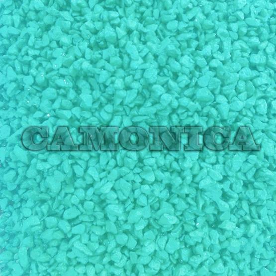 Каменная крошка из мрамора окрашенная бирюзовая