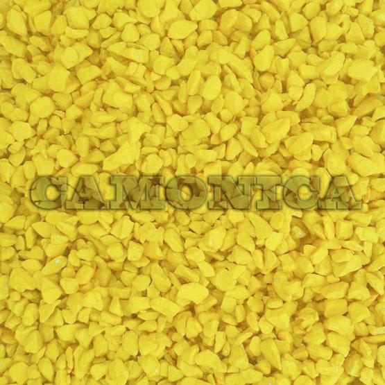 Каменная крошка из мрамора окрашенная желтая лимонная