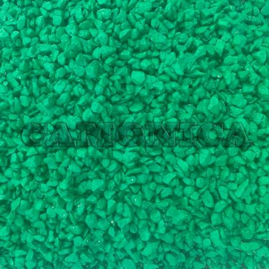 Каменная крошка из мрамора окрашенная зеленая