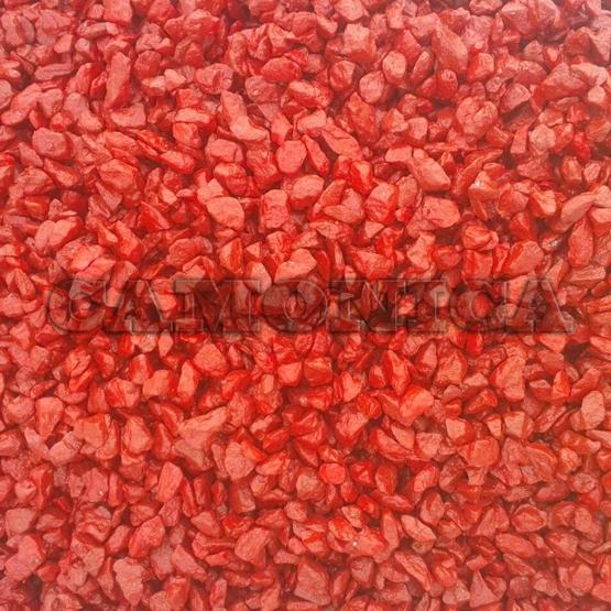 Каменная крошка из мрамора окрашенная красная
