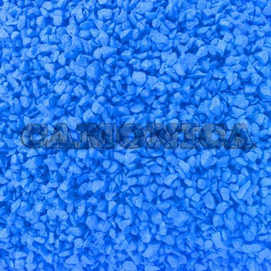 Каменная крошка из мрамора окрашенная синяя